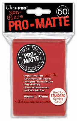 Ultra Pro Matte Red Sleeves Standard