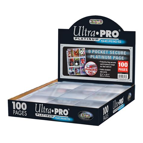 Ultra Pro 9-pocket secure Platinum Pages