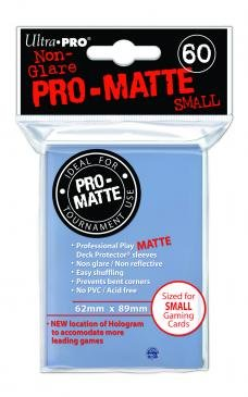 Ultra Pro Matte Clear Sleeves Small