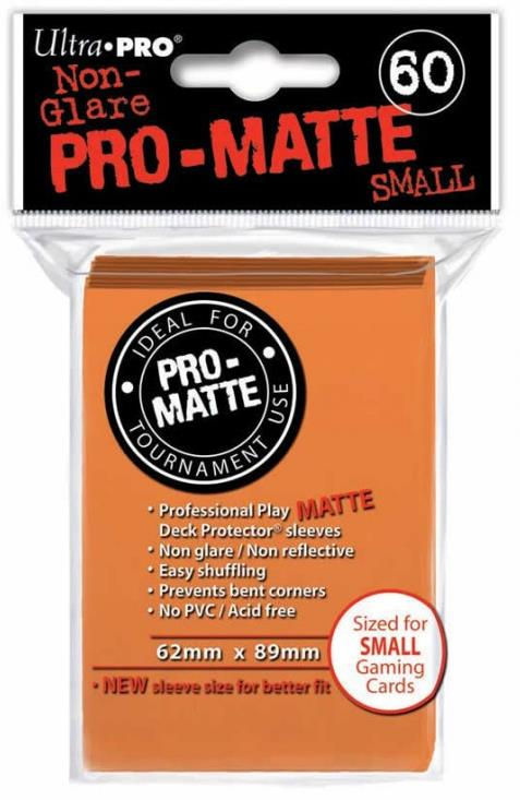 Ultra Pro Matte Orange Sleeves Small