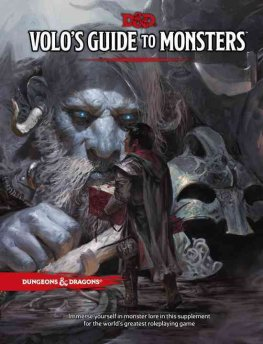 Volos Guide to Monsters D & D