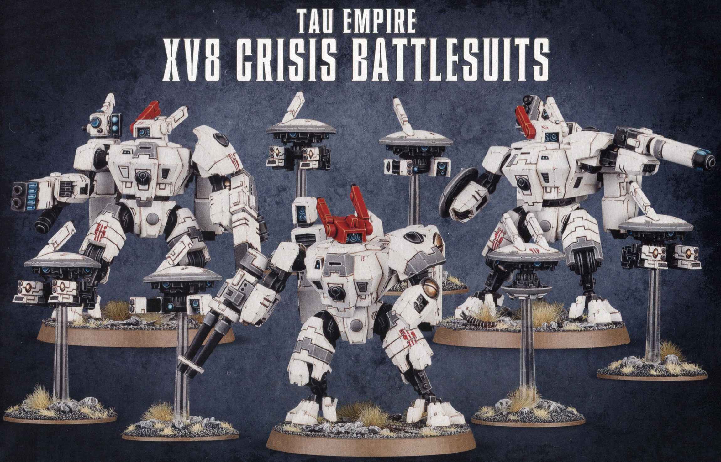 Tau Empire XV8 Crisis Battlesuit Team